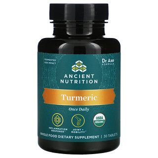 Dr. Axe / Ancient Nutrition, Turmeric, Once Daily, 30 Tablets