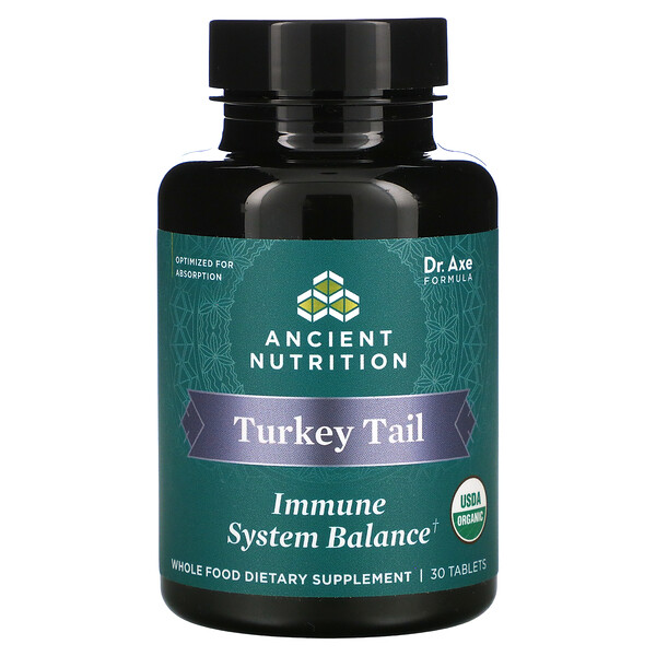 Turkey Tail, Immune System Balance, 30 Tablets