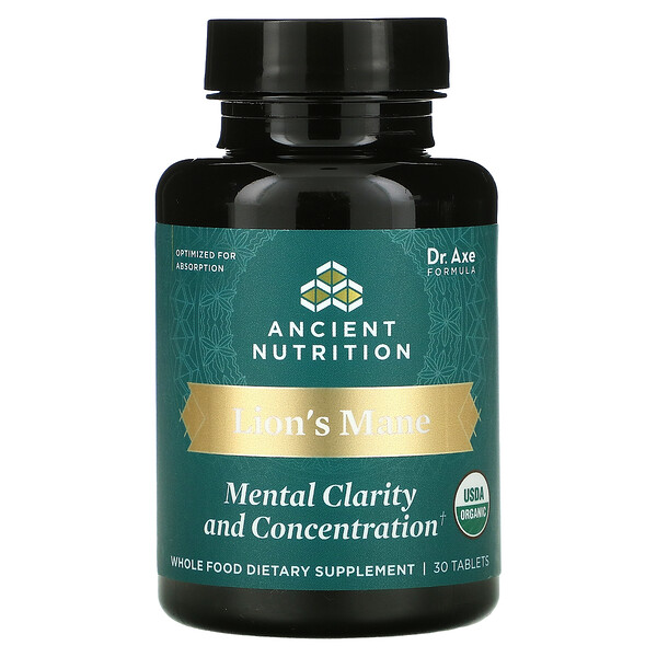 Lion's Mane, Mental Clarity And Concentration, 30 Tablets