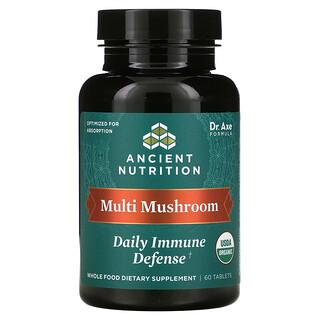 Dr. Axe / Ancient Nutrition, Multi Mushroom, Daily Immune Defense, 60 Tablets