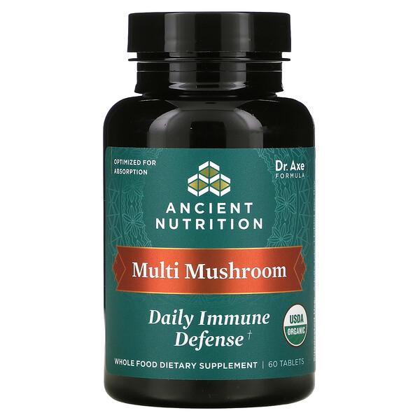 Multi Mushroom, Daily Immune Defense, 60 Tablets