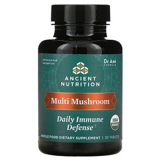 Dr. Axe / Ancient Nutrition, Multi Mushroom, Daily Immune Defense, 30 Tablets