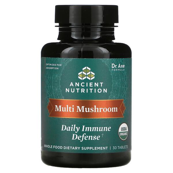 Multi Mushroom, Daily Immune Defense, 30 Tablets