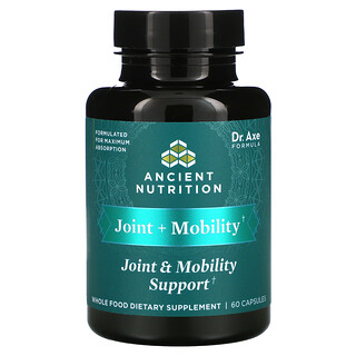 Dr. Axe / Ancient Nutrition, Joint + Mobility Support, 60 Capsules