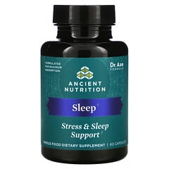 Dr. Axe / Ancient Nutrition, 睡眠,壓力和睡眠支持,60 粒膠囊