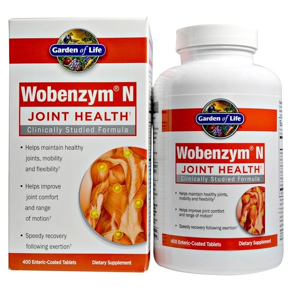 Wobenzym N, 관절 건강, 400 장용해 알약