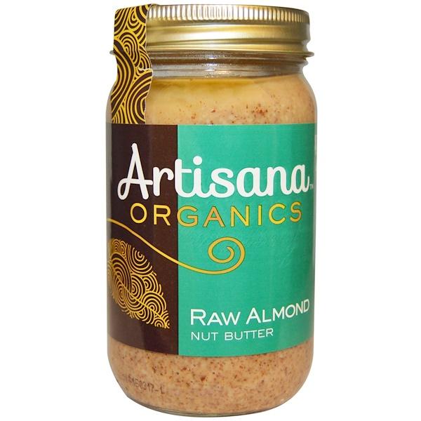 Artisana, Organics, масло из сырых миндальных  орехов, 16 унций (454 г) (Discontinued Item)
