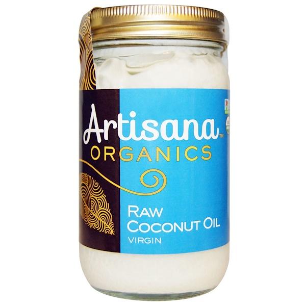 Artisana, オーガニック, 生のココナッツオイル, バージン, 16液量オンス(473 ml) (Discontinued Item)