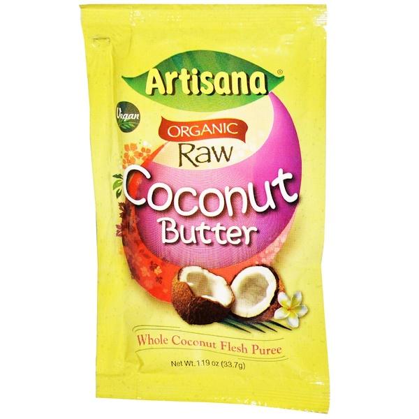 Artisana, Натуральное сырое масло кокоса, 1.19 унций (33.7 г) (Discontinued Item)