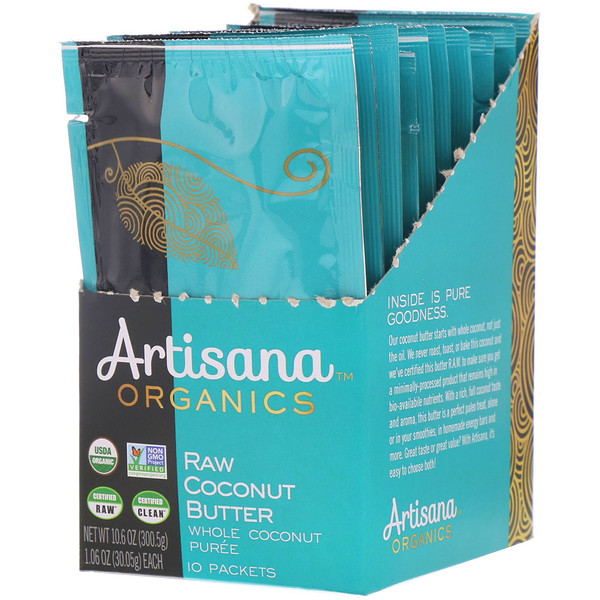 Artisana, Organics, Raw Coconut Butter, 10 Packets, 1.06 oz (30.05 g) Each
