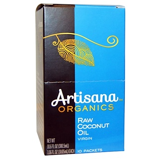 Artisana, Organics, Raw Coconut Oil, Virgin, 10 Packets, 1.06 fl oz (30.05 ml) Each