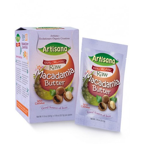 Artisana, Organic Raw Macadamia Butter with Cashews, 10 Packets, 1.19 oz (33.7 g) Each (Discontinued Item)