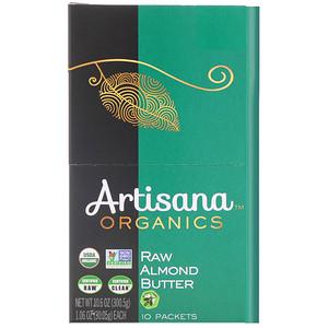 Артисана, Organics, Raw Almond Nut Butter, 10 Packets, 1.06 oz (30.05 g) Each отзывы покупателей