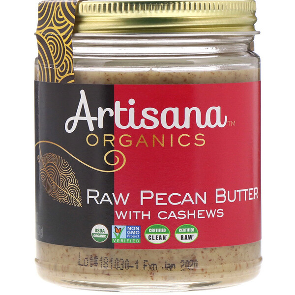 Organics, Raw Pecan Butter, 8 oz (227 g)