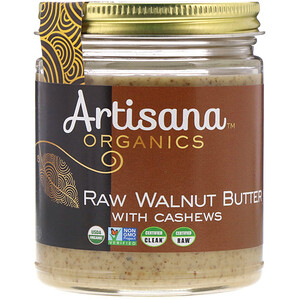 Артисана, Organics, Raw Walnut Butter, 8 oz (227g) отзывы покупателей