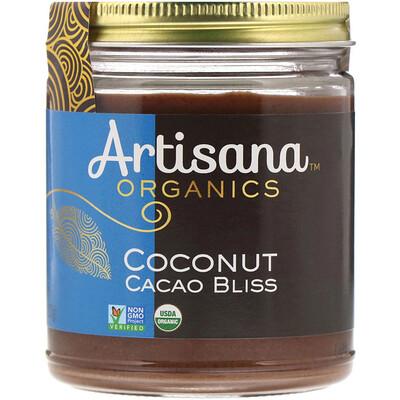 Organics, сырое кокосовое какао-блаженство, ореховое масло, 227 г (8 унций) блаженство сливочное масло bergamont тело