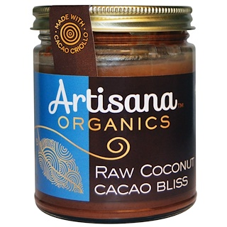 Artisana, Organic, Cacao de coco puro, mantequilla de nuez, 8 oz (227 g)