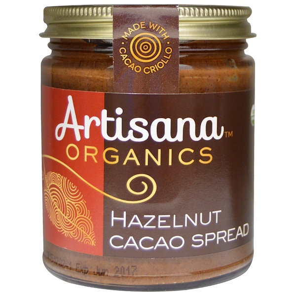 Artisana, Pasta de Avelã e Cacau, 8 oz (227 g)