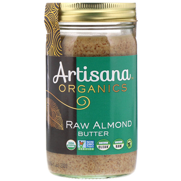 Organics, Raw Almond Butter, 14 oz (397 g)