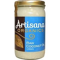 Organics, сырое кокосовое масло, нерафинированное, 14 унций (414 г) - фото
