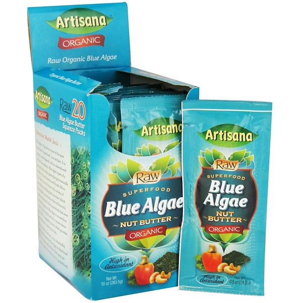 Artisana, Organic Blue Algae Nut Butter, 20 Squeeze Packs, 0.5 oz (14.2 g) Each (Discontinued Item)