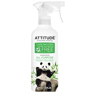 ATTITUDE, Concentrated All Purpose, Citrus Zest, 16 fl oz (475 ml)