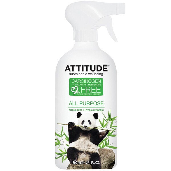 ATTITUDE, All Purpose, Citrus Zest, 27.1 fl oz (800 ml)