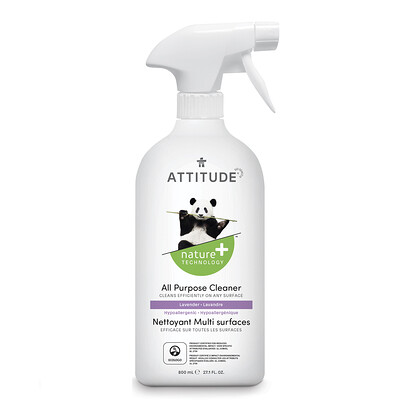 Купить ATTITUDE All Purpose Cleaner, Lavender, 27.1 fl oz (800 ml)