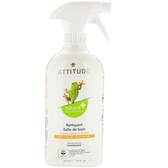 ATTITUDE, Bathroom Cleaner, Citrus Zest, 27.1 fl oz (800 ml)