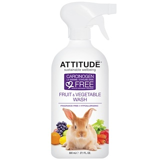 ATTITUDE, Fruit & Vegetable Wash, 27.1 fl oz (800 ml)
