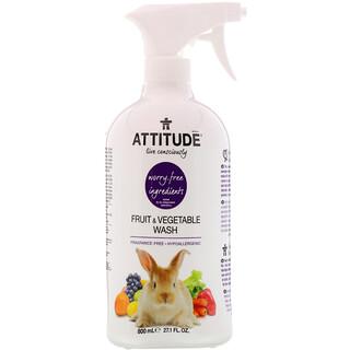 ATTITUDE, 果蔬洗滌劑,27.1液體盎司(800毫升)