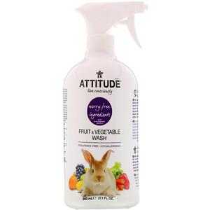 Аттитуде, Fruit & Vegetable Wash, 27.1 fl oz (800 ml) отзывы покупателей
