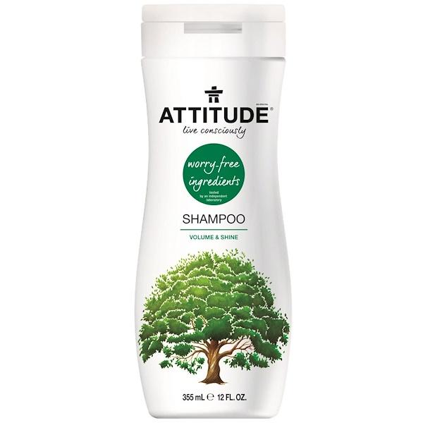 ATTITUDE, Shampoo, Volume & Shine, 12 fl oz (355 ml) (Discontinued Item)