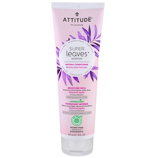 ATTITUDE, Super Leaves Science, Natural Conditioner, Moisture Rich, Quinoa & Jojoba, 8 oz (240 ml)