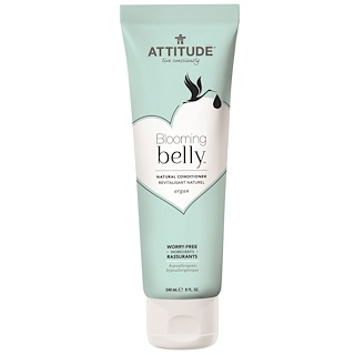 ATTITUDE, Blooming Belly, Natural Conditioner, Argan, 8 fl oz (240 ml)
