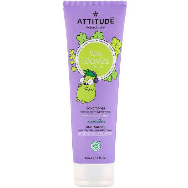ATTITUDE, Little Leaves Science, Conditioner, Vanilla & Pear, 8 fl oz (240 ml)