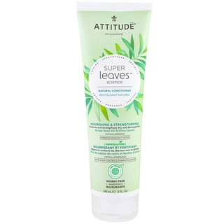 ATTITUDE, Super Leaves Science, Natural Conditioner, Nourishing & Strengthening, Grape Seed Oil & Olive Leaves, 8 oz (240 ml)