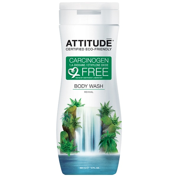 ATTITUDE, Body Wash, Revival, 12 fl oz (355 ml)  (Discontinued Item)