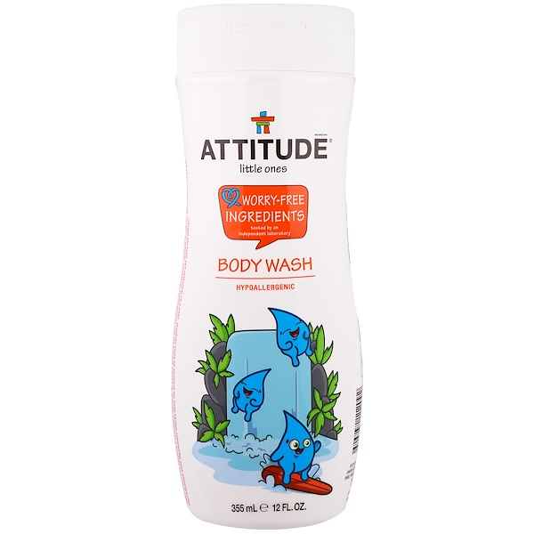 ATTITUDE, リトルワンズ、ボディーウォッシュ、 12液量オンス (355 ml)