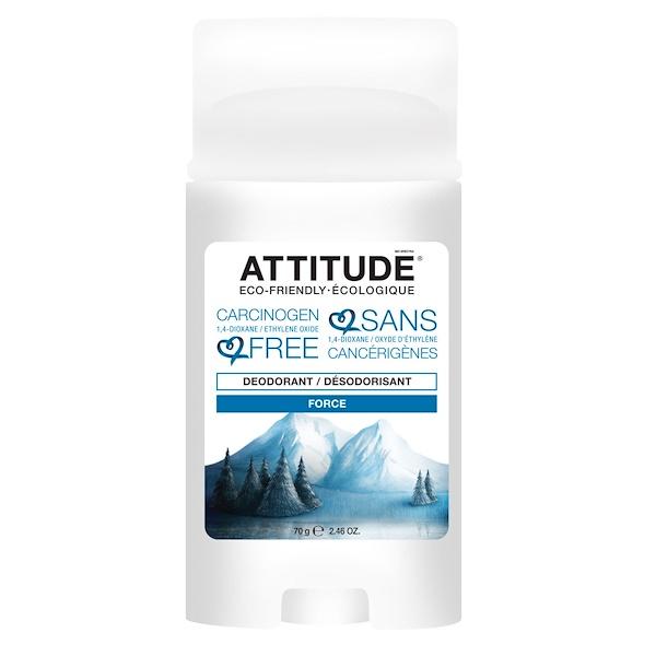 ATTITUDE, Deodorant, Force, 2.46 oz (70 g) (Discontinued Item)