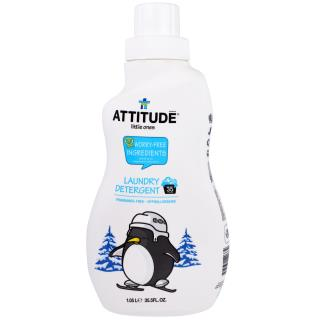 ATTITUDE, Little Ones, Laundry Detergent, Fragrance-Free, 35.5 fl oz (1.05 l)