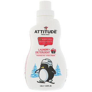 ATTITUDE, Little Ones, Laundry Detergent, Fragrance-Free, 35.5 fl oz