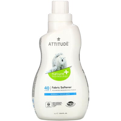 Купить ATTITUDE Fabric Softener, Wildflowers, 40 Loads, 33.8 fl oz (1 l)
