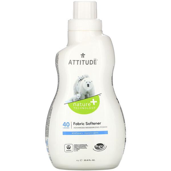 ATTITUDE, Fabric Softener, Wildflowers, 40 Loads, 33.8 fl oz (1 l)
