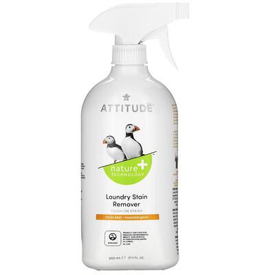 Купить ATTITUDE Пятновыводитель для ткани, цитрусовая цедра, 27, 1 жидкой унции (800 мл)