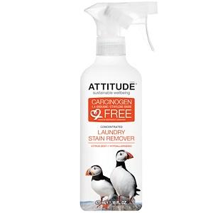Аттитуде, Concentrated, Laundry Stain Remover, Citus Zest, 16 fl oz (475 ml) отзывы