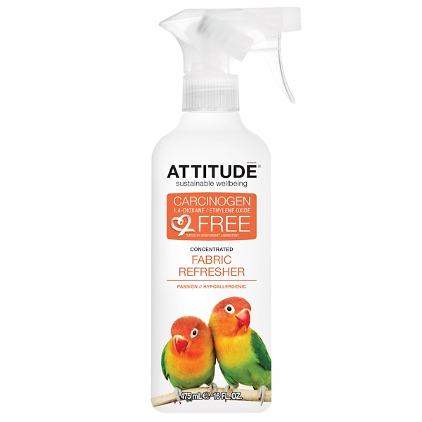 ATTITUDE, Concentrated Fabric Refresher, Passion, 16 fl oz (475 ml)
