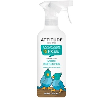 ATTITUDE, Little Ones, Concentrated Fabric Refresher, Fragrance Free, 16 fl oz (475 ml)