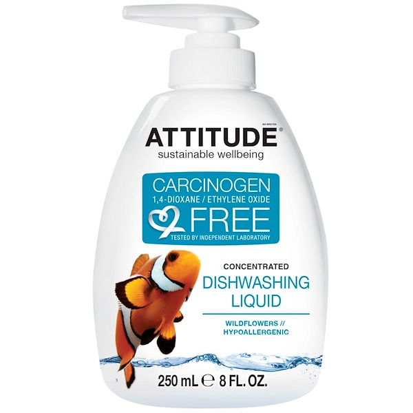ATTITUDE, Concentrated Dishwashing Liquid, Wildflowers, 9.5 fl oz (280 ml) (Discontinued Item)