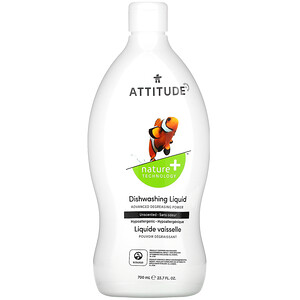 ATTITUDE, Dishwashing Liquid, Unscented, 23.7 fl oz (700 ml)